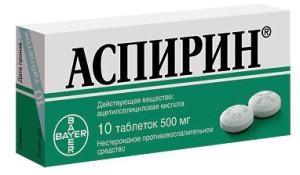 Отравление аспирином