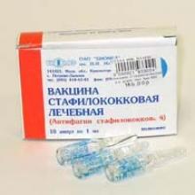 Вакцина для лечения стафилококка