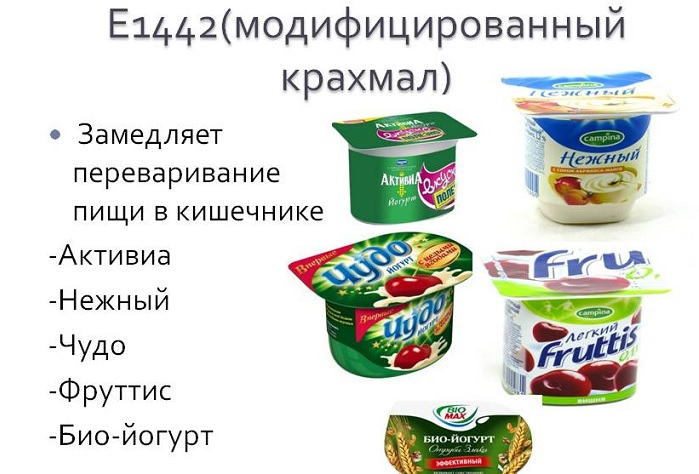 Консервант Е1442 в йогурте