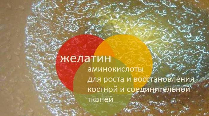 Употребление желатина